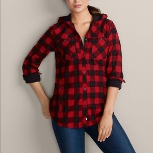 Eddie Bauer Stine's Favorite Red Flannel Jacket L
